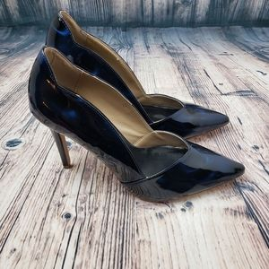 Paper Fox Blue Patent Leather Heels Size 9.5